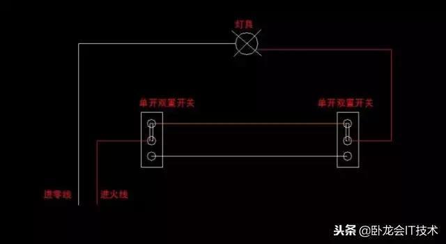 双联双控开关,三联双控开关,按照联数的增加接线困难也会递增,这个