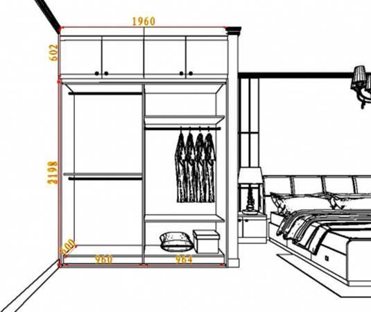 35款流行衣柜尺寸设计图,新房装修不懂可以看看!附:内部结构
