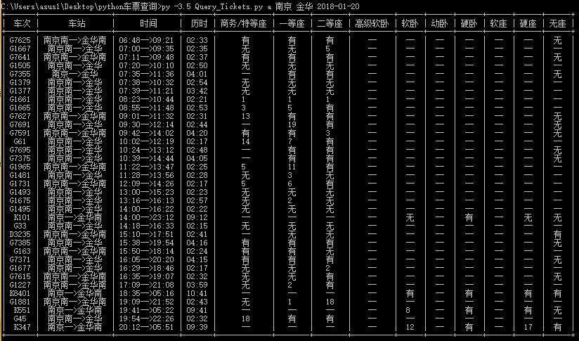 Python3实现抢火车票功能(上)