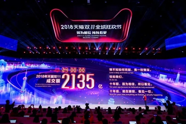 天猫销售额2135亿双十一圆满落幕,三星谷歌共同研发折叠屏系统