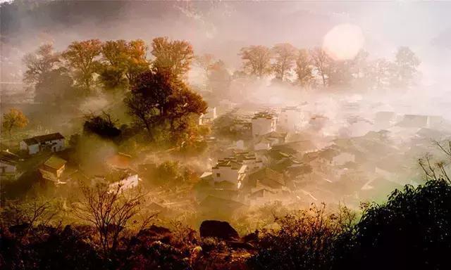 秋天的婺源是摄影家的天堂  一幅幅优美的乡村田野画卷