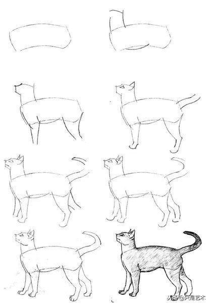卡通简笔画这样画超简单,只需几根线,大人小孩都能学会
