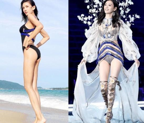 当张蓝心与奚梦瑶同穿礼服,终于知道了枯瘦与性感的区别!
