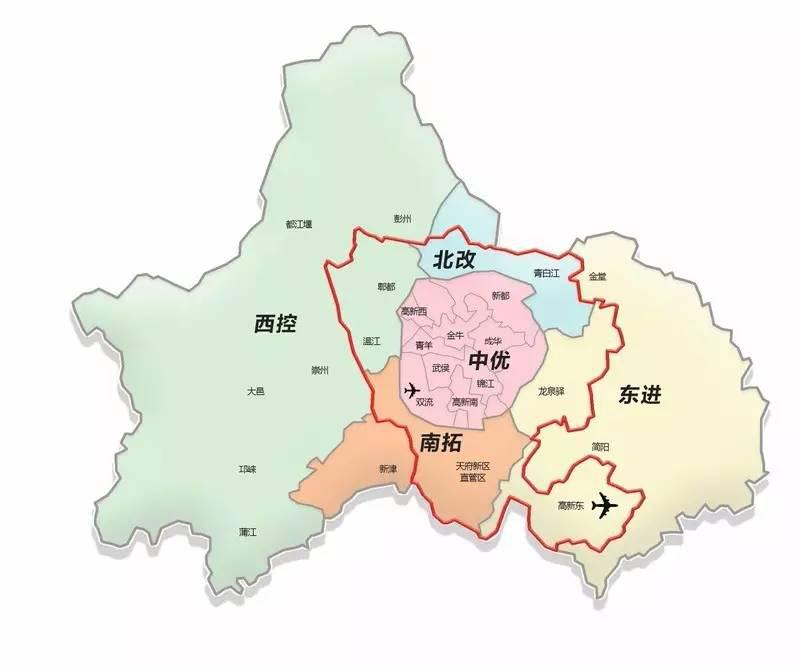 2018双流区最新规划图