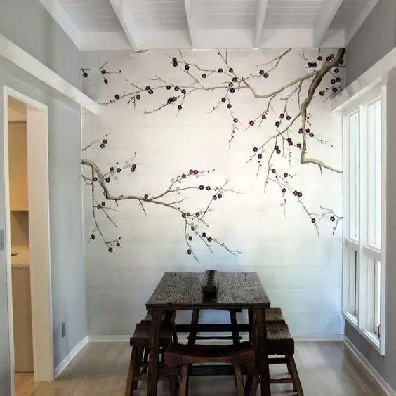 其中,手绘墙画