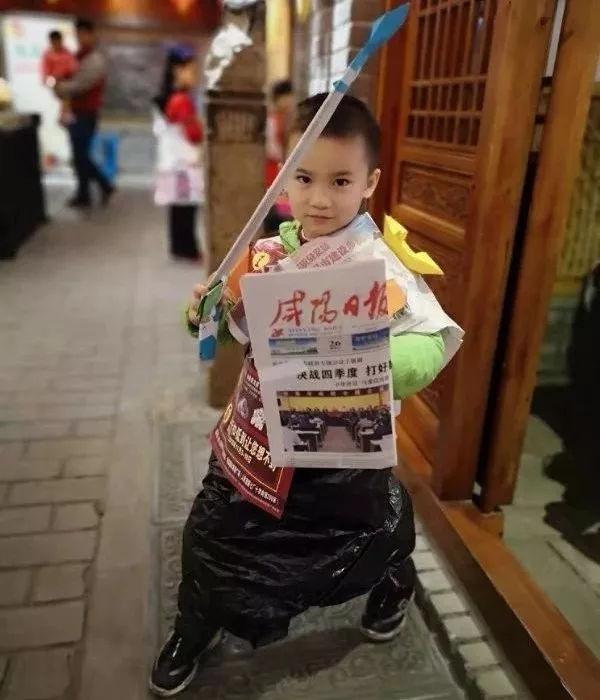 咸阳日报 小记者环保时装秀在古渡驿盛大举行图片