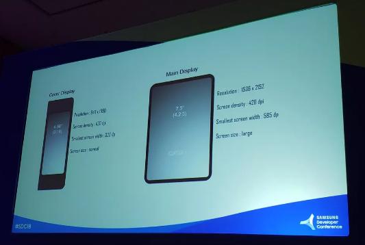 传Galaxy X可折叠手机屏幕规格为7.3英寸和4.5英寸