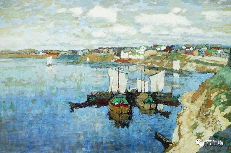【写生啦】 俄罗斯印象派画家——康斯坦丁·加勒巴多夫风景作品图片