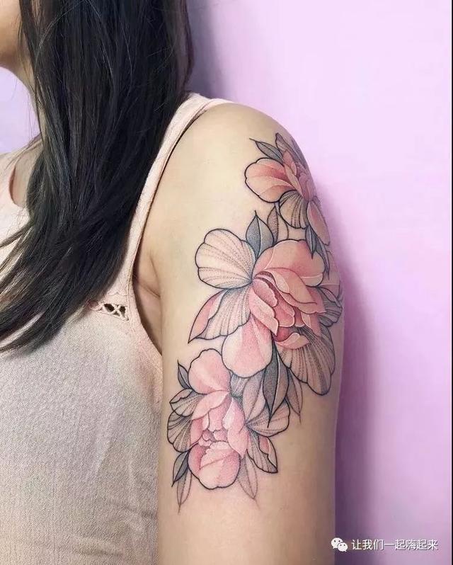 清新素花纹身应该是什么样的_图案图片