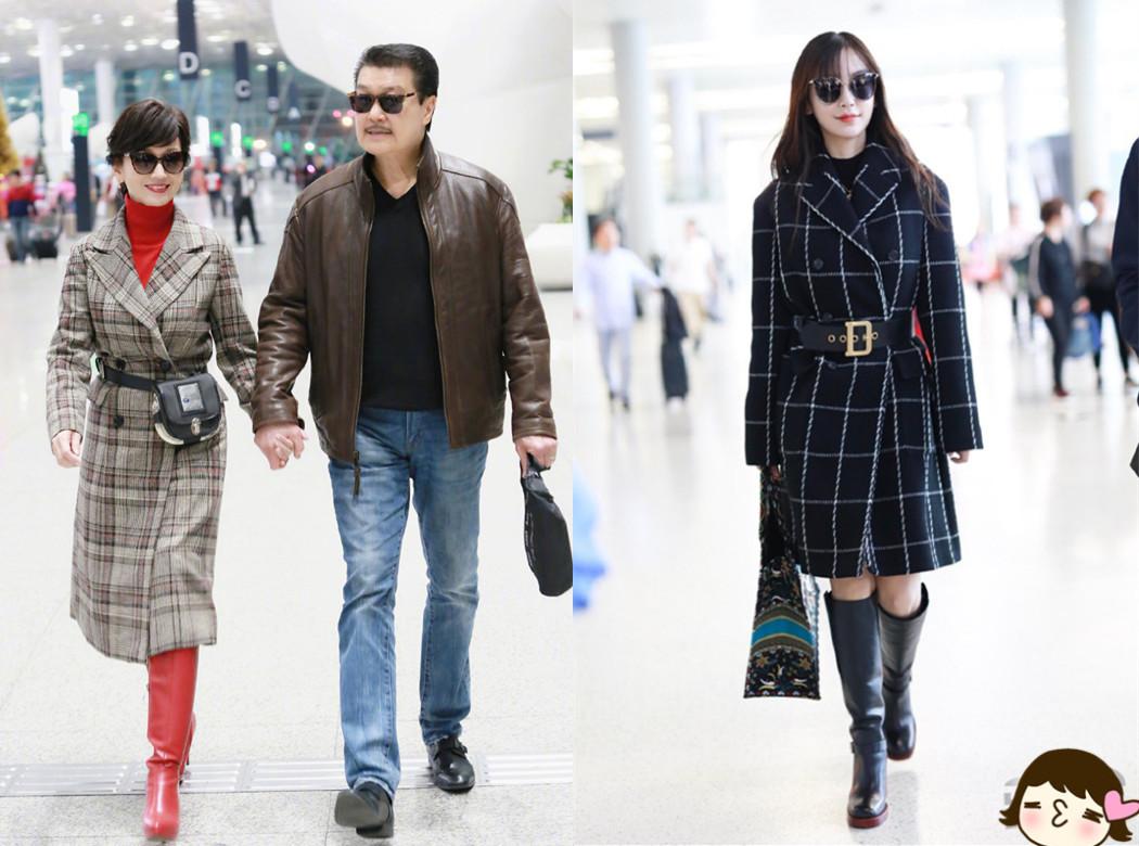 当29岁杨颖和64岁赵雅芝同穿格纹大衣,才明白气质对女人有多重要