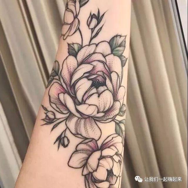清新素花纹身应该是什么样的图片