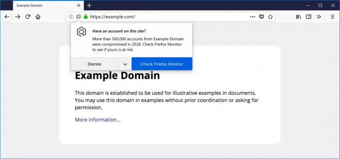Mozilla Firefox 将提示其用户所访问的网站是否被黑过