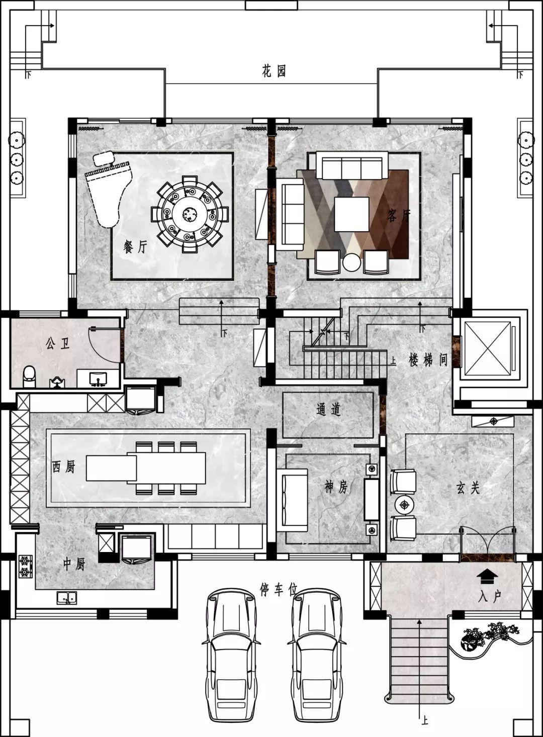 1140别墅个性,新中式+现代,你介绍的用一段话喜欢平面设计岗位图片