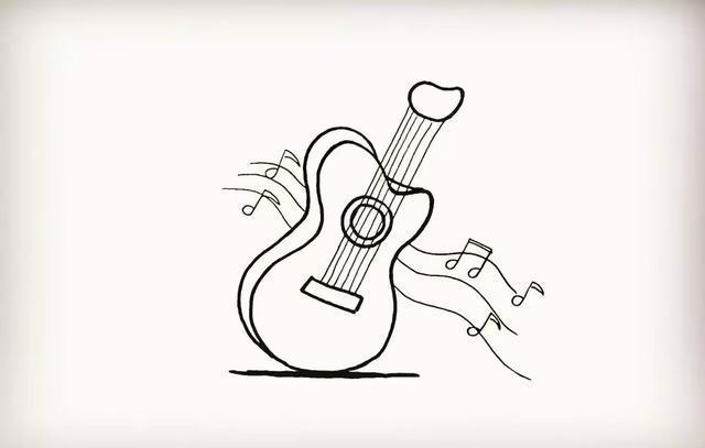 简笔画︱乐器 吉他