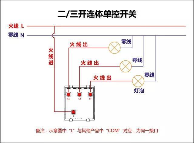 电工必备:最全的开关接线图(单控,双控,三控)强烈推荐
