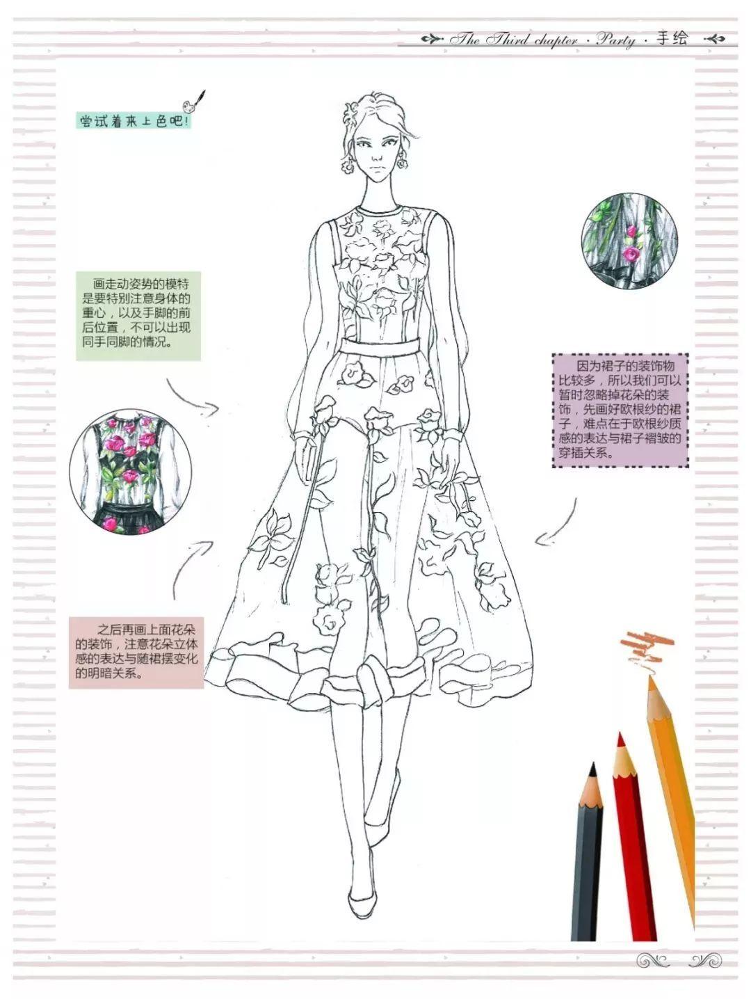 教育 正文  收录时尚编辑,时尚博主的穿衣搭配 学习手绘技巧的同时 还图片