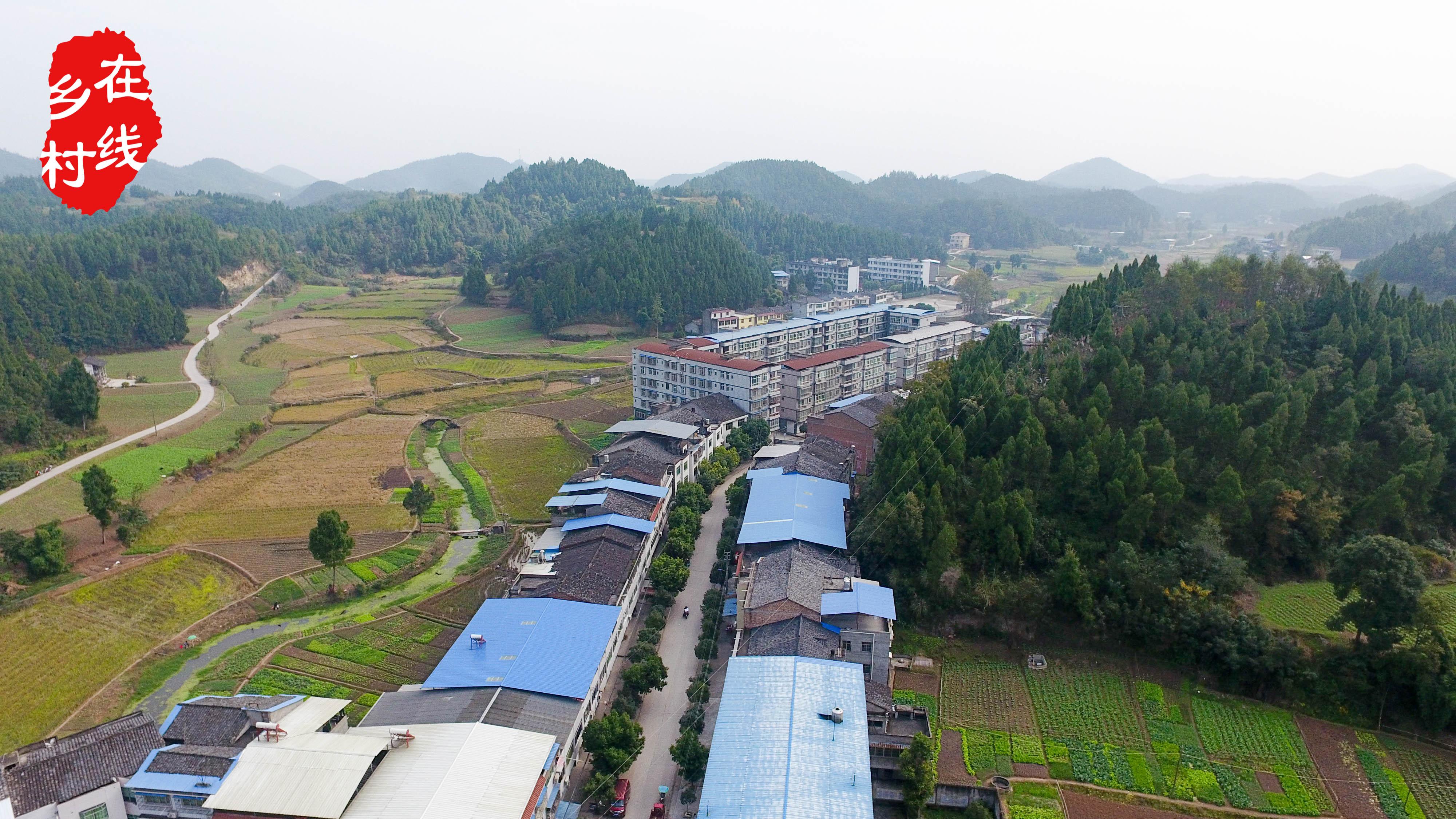 四川 南部县永庆乡航拍图集
