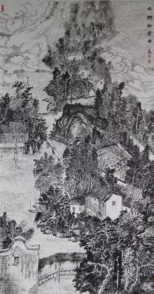 作品曾多次入選中國美協舉辦的國展圖片