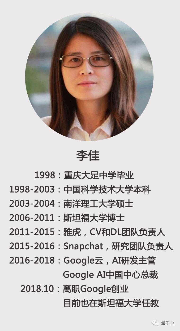 李飞飞之后谷歌再失华裔高管,谷歌AI中国中心总裁李佳离职创业   移动互联  第6张