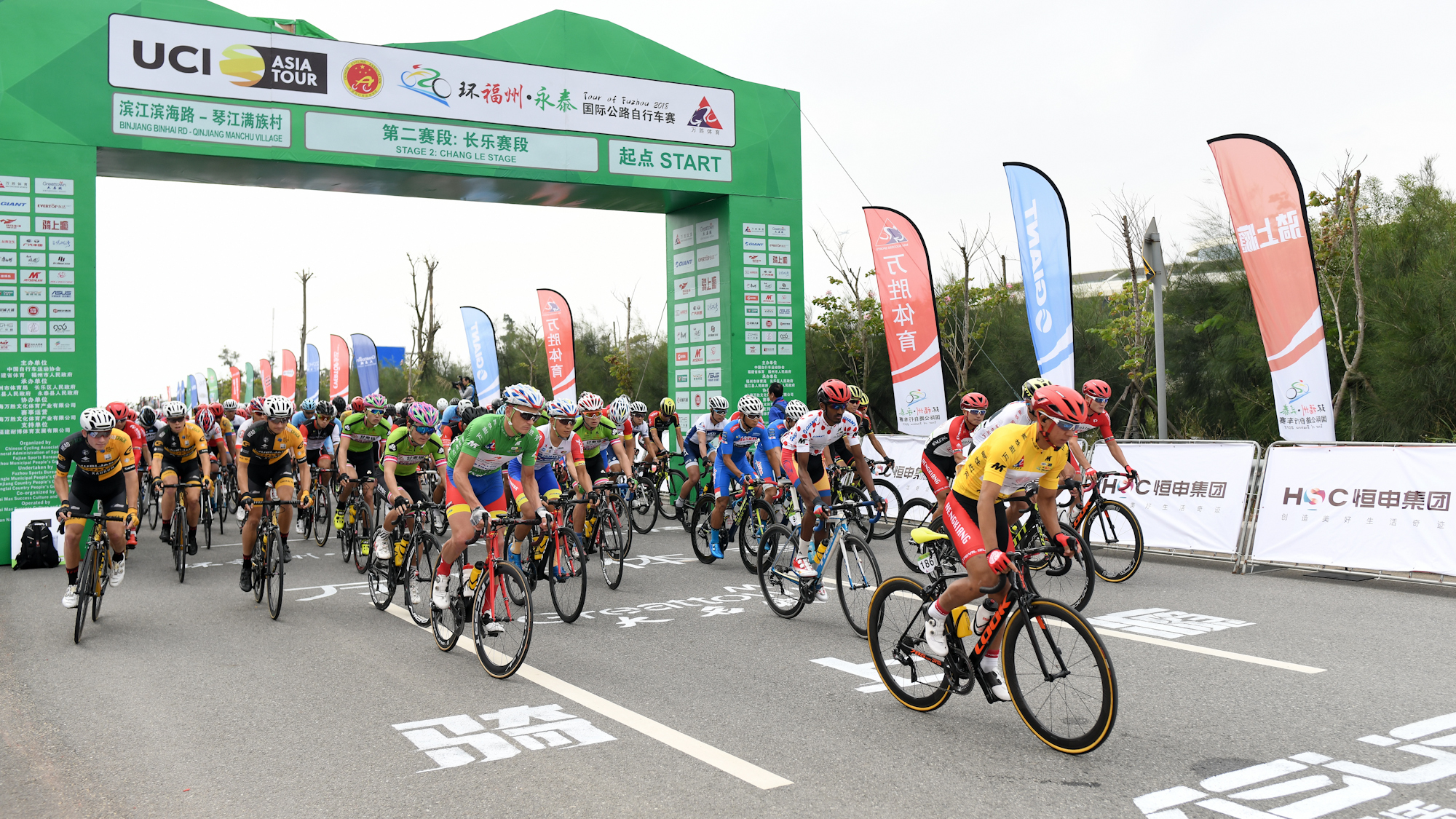 环福州自行车赛第二赛段 吕先景仍保有黄衫