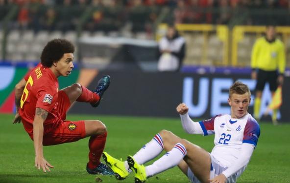 欧国联-巴舒亚伊击中立柱 比利时半场0-0冰岛
