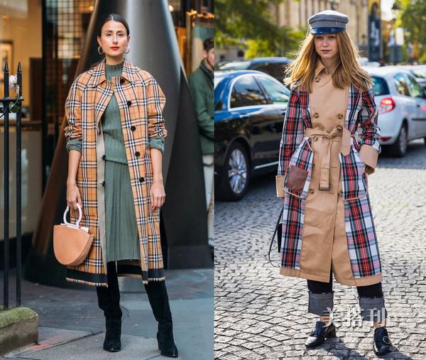 秋冬想要复古时髦的出街,明亮俏皮的苏格兰格纹是一个很好的选择