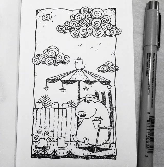 在家沒事練習一下別人的手繪稿