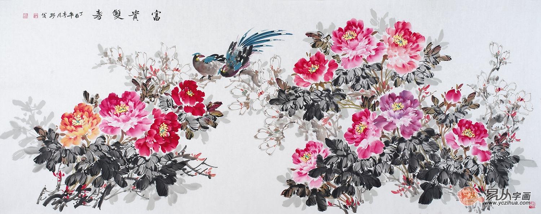 家里挂的字画内容,花鸟画富贵招财惹人喜爱