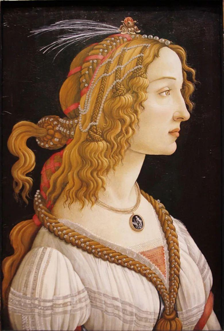 年轻女子的肖像 波提切利 1482 年