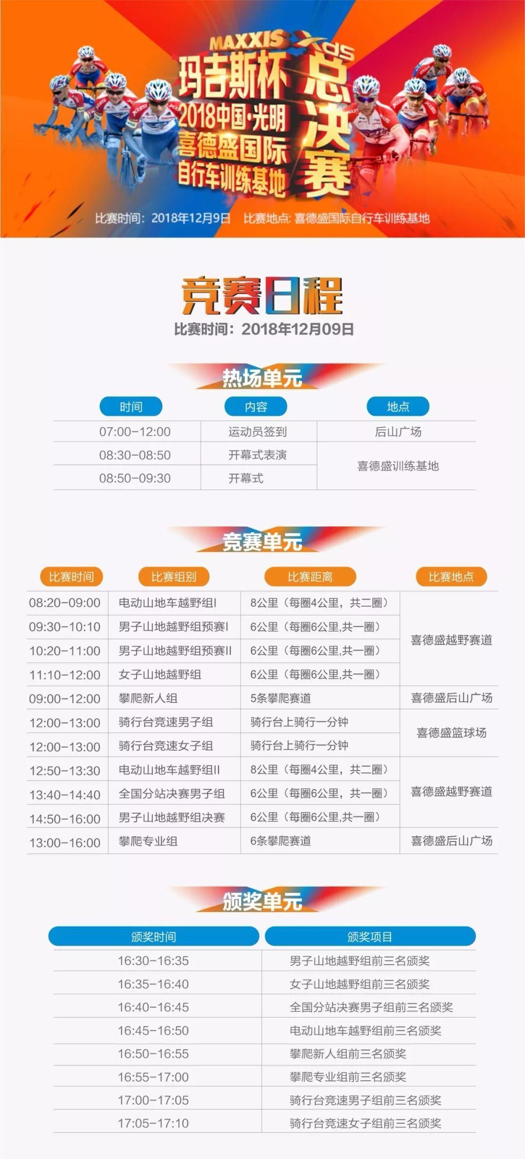 """总决赛报名""""玛吉斯杯""""2018中国·光明喜德盛国际自行车训练基地总决赛"""