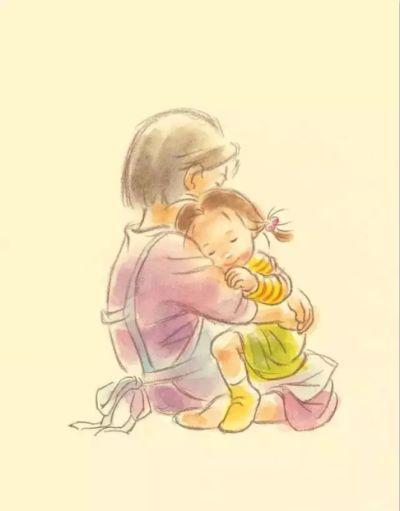 妈妈拥抱宝宝的简笔画_拥抱的力量_妈妈