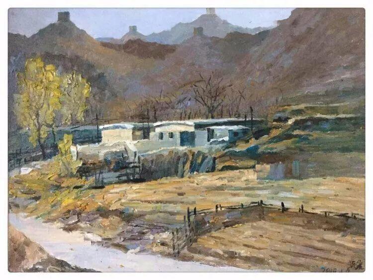 张健的许多画风景基本上是采用这两个色轮角的颜色进行冷暖,明暗,强弱