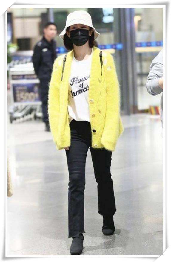 杨紫穿了一件黄色开衫,就气场全开美到炸,网友:要卖断货!