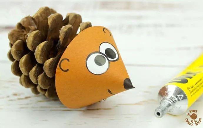 可爱松果刺猬手工制作