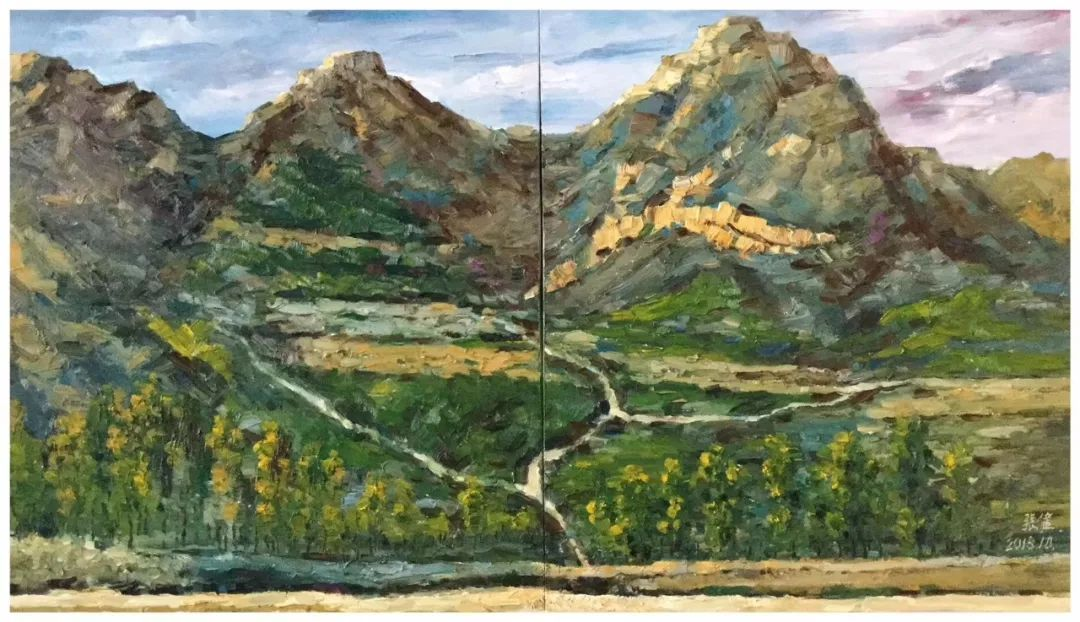 【画廊推荐】画家张健:高举用色彩描摹大自然的旗帜