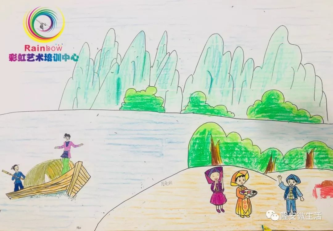 奇了,壮乡隆安在孩子的画笔下,竟是这样的!_八桂图片