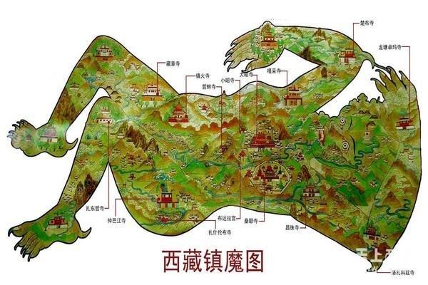 超巨大!西藏佛像卫星放大后,竟然有一尊诡异地图星游戏攻略煞面疤图片