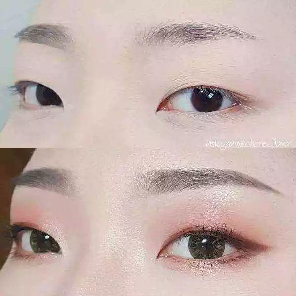 专属单眼皮的眼影教程,让你画出韩系女生的清新妆容图片
