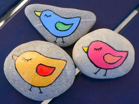 幼儿园石头画的50个新创意