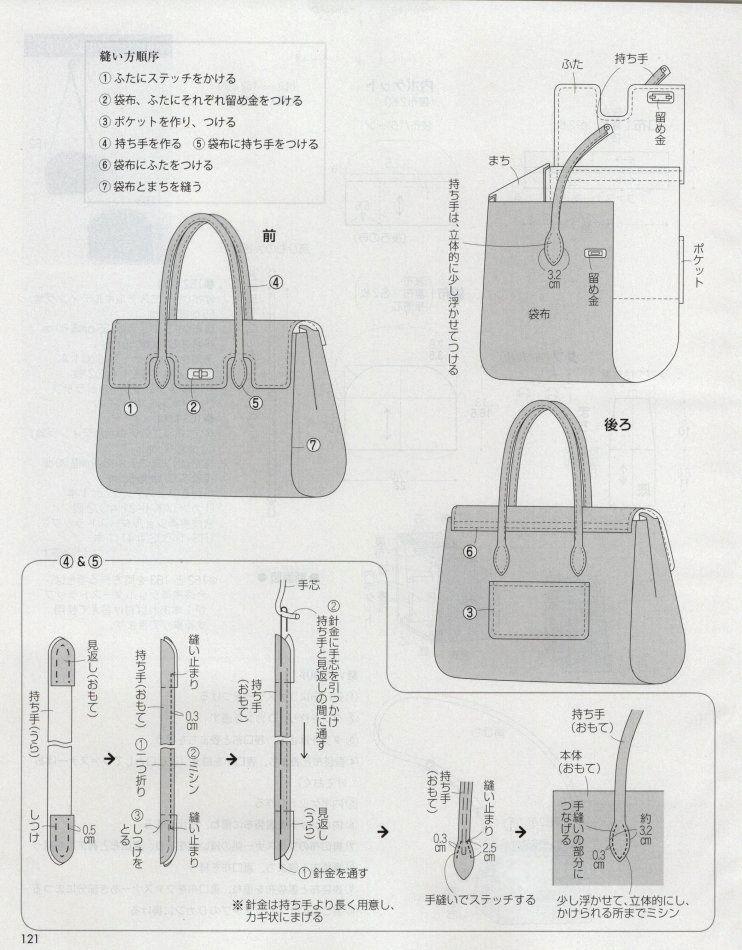 6款日系时尚包包的图纸和制作资料