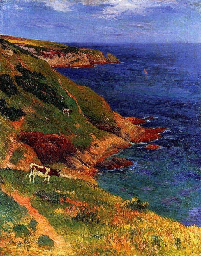 法国油画风景竖屏_法国画家亨利.马丁油画风景作品欣赏