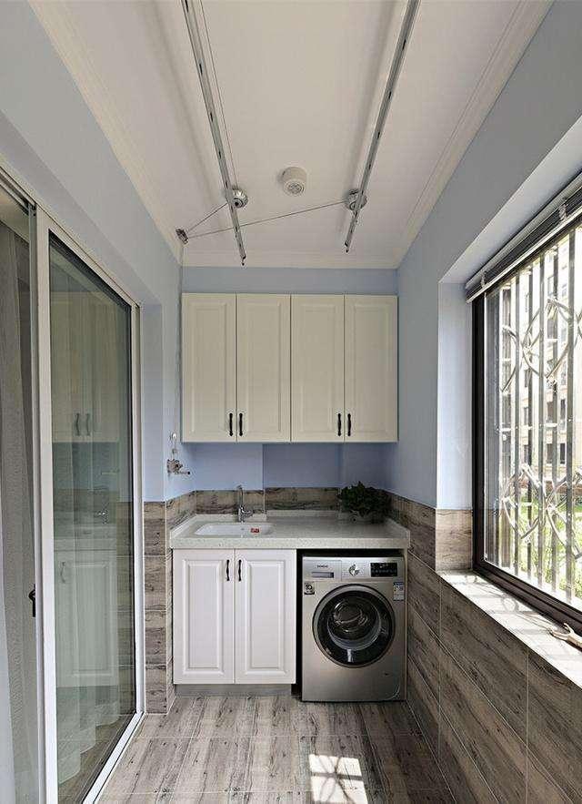 阳台洗衣柜效果图11