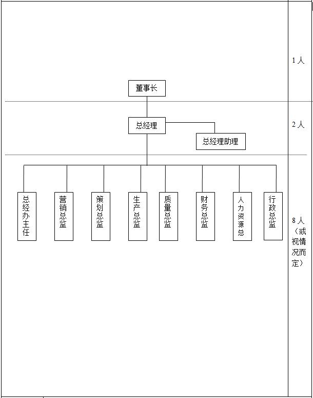 企業管理,財務,人力,營銷,生產行政組織架構示意圖圖片