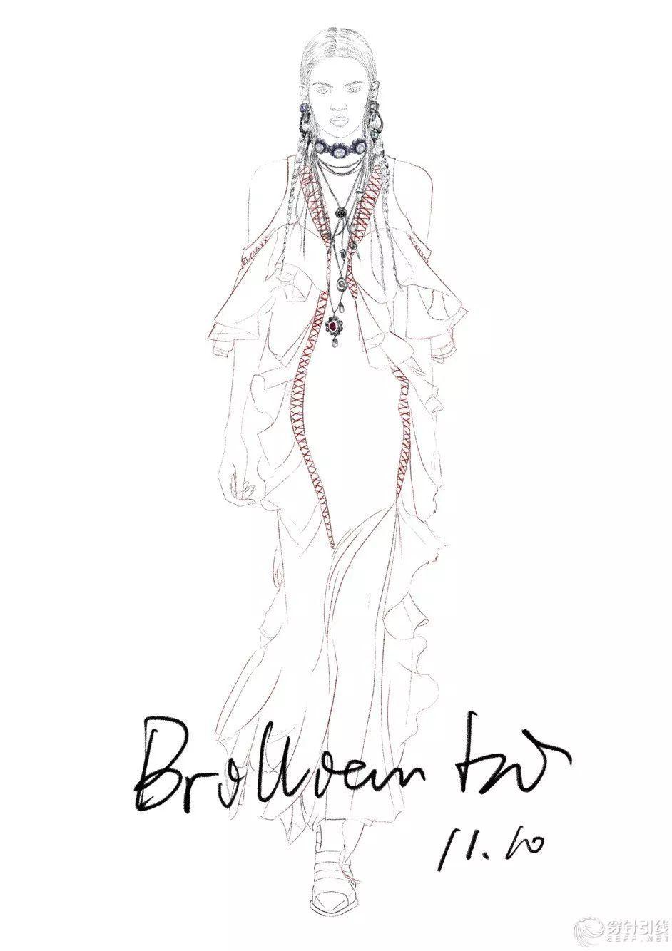 时装手绘 | 电脑服装设计效果图mcqueen aw18