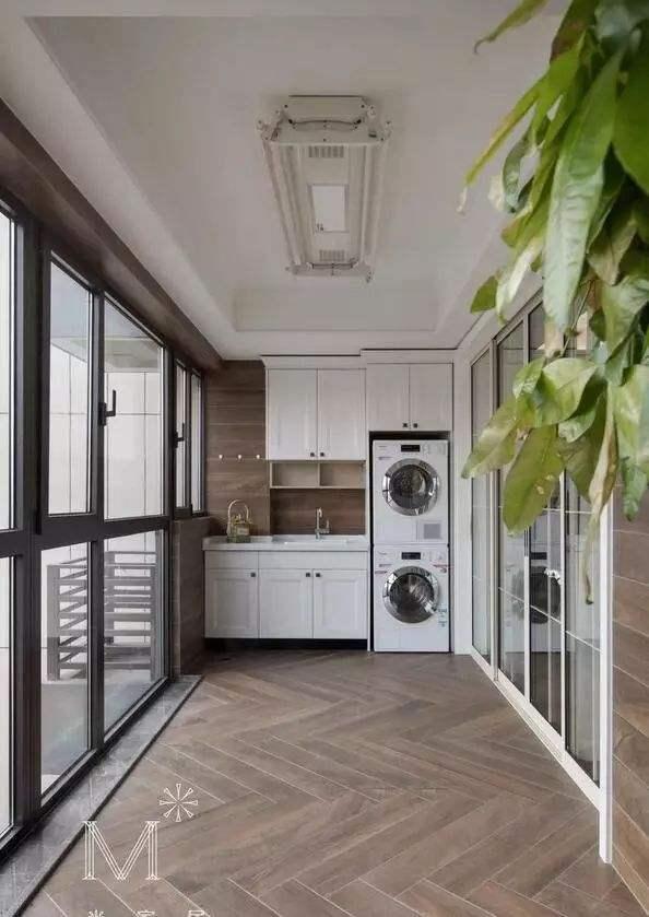 阳台洗衣柜效果图10