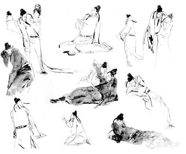 绘画教程 | 白描人物画技法