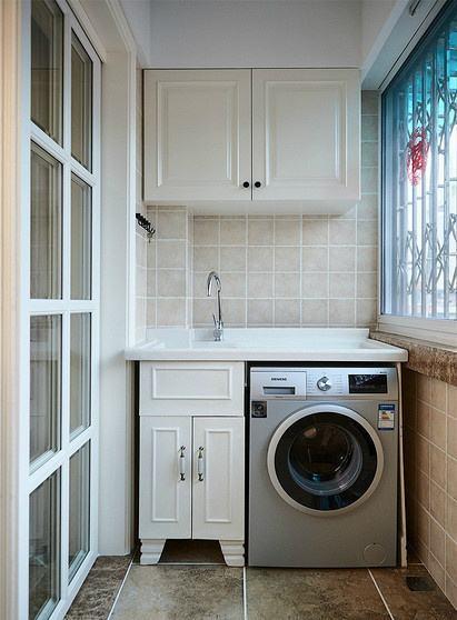 阳台洗衣柜效果图4
