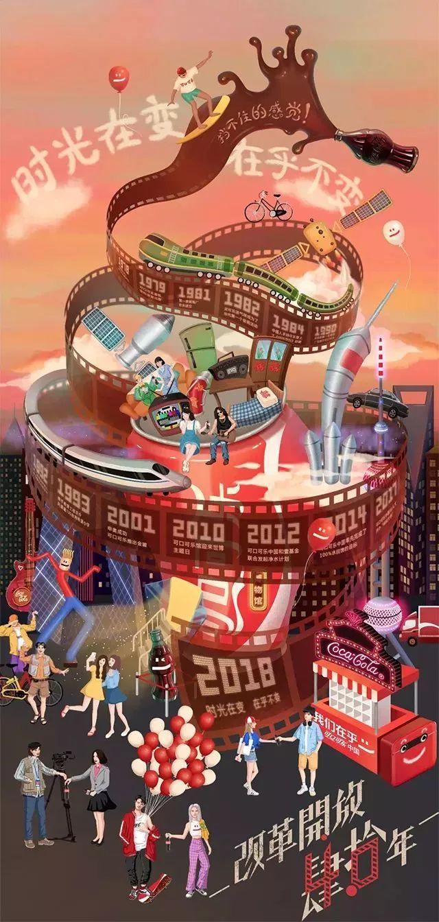 可口可乐致敬改革开放40年:走心创意勾起一波回忆杀
