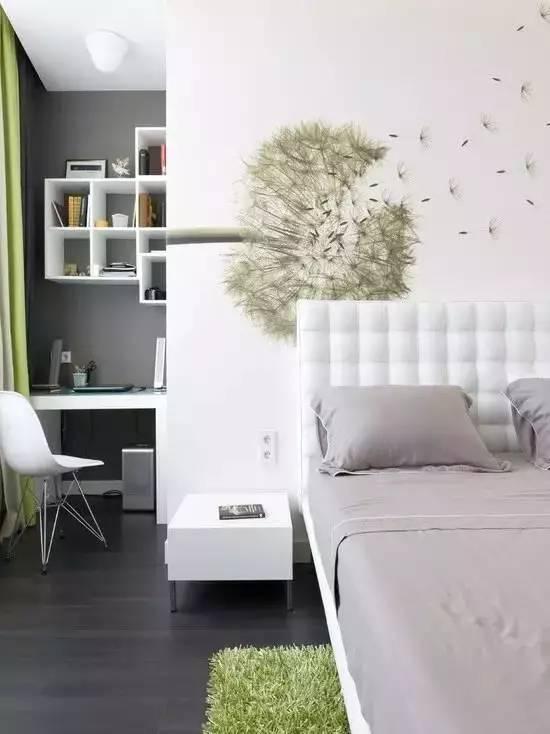 和风一体书架:和风平台床,低矮和外延床廓是一大特色,设计师延展了图片