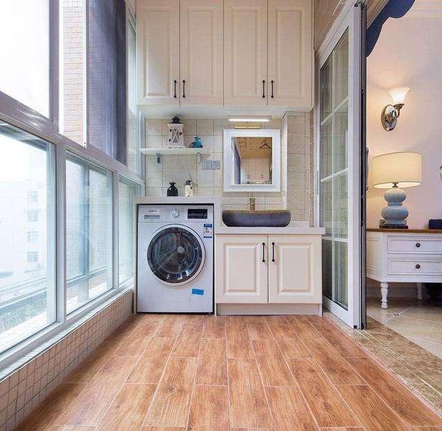 阳台洗衣柜效果图2